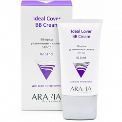 Аравия Aravia professional BB-крем увлажняющий SPF 15 Ideal Cover BB-Cream Sand 02, 50 мл